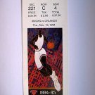 Basketball Ticket Stub KNICKS 1994-95 KNICKS vs ORLANDO GAME K2 Nov.10,1994