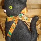 Handmade Halloween Kitty Felt Magnet