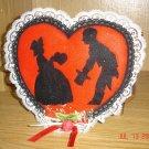 Handmade Felt Silouhette Heart Magnet