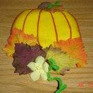 Handmade Fall Pumpkin Felt Magnet