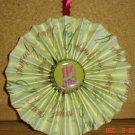 """Handmade Paper Rosette Ornament-Elegant Candles-4"""""""