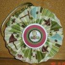 """Handmade Paper Rosette Ornament-Gingerbread Noel-5"""""""