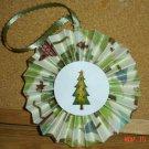 """Handmade Paper Rosette Ornament-Glitter Tree-4"""""""
