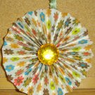 "Handmade Paper Rosette Ornament-Colorful Flowers-4"""