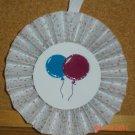 """Handmade Paper Rosette Ornament-Balloons-4"""""""