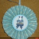 "Handmade Paper Rosette Ornament-Blue Snowman-4"""