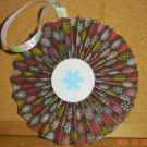 "Handmade Paper Rosette Ornament-Pretty Snowflakes-5"""