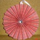 "Handmade Paper Rosette Ornament-Pretty Pink Polka Dots-4"""