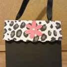 Black Cheetah/Leopard Print with Flower Paper Purse