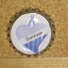 Purple Awareness Bottlecap Magnet #4