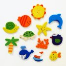 Pre-School Play Magnets Whale, Fish, Starfish, Tortoise Set Of 12