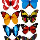 Butterfly Magnets 12cm Wingspan, Real looking Butterflies x 4 pack