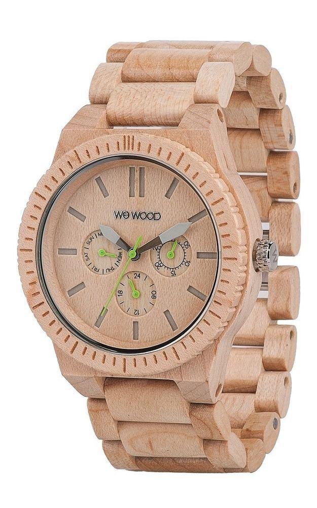 WeWOOD Kappa Chrono Beige Watch - Natural Wood Timepiece