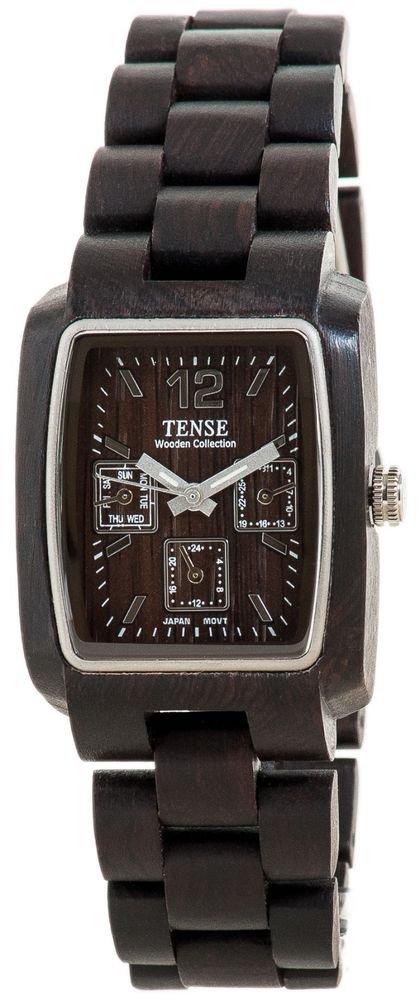 Tense Alpine Dark Sandalwood Watch - Model J8302D - Natural Wood Timepiece