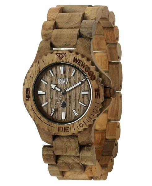 WeWOOD Date Teak Watch - Natural Wood Timepiece