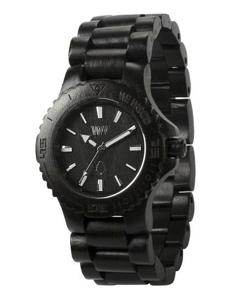 WeWOOD Date Black Watch - Natural Wood Timepiece