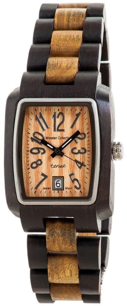 Tense Timber Dark/Green Sandalwood Watch - Model J8102DG- Natural Wood Timepiece