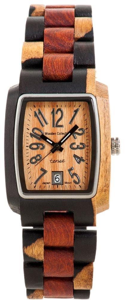 Tense Timber Dark Dual-tone/ Sandalwood Watch J8102IDM - Natural Wood Timepiece