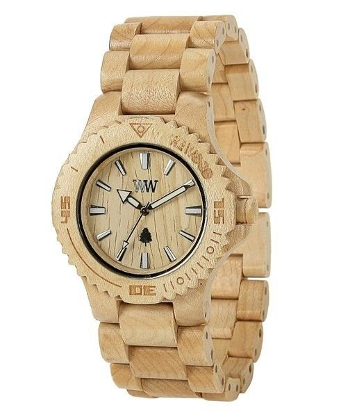 WeWOOD Date Beige Watch - Natural Wood Timepiece