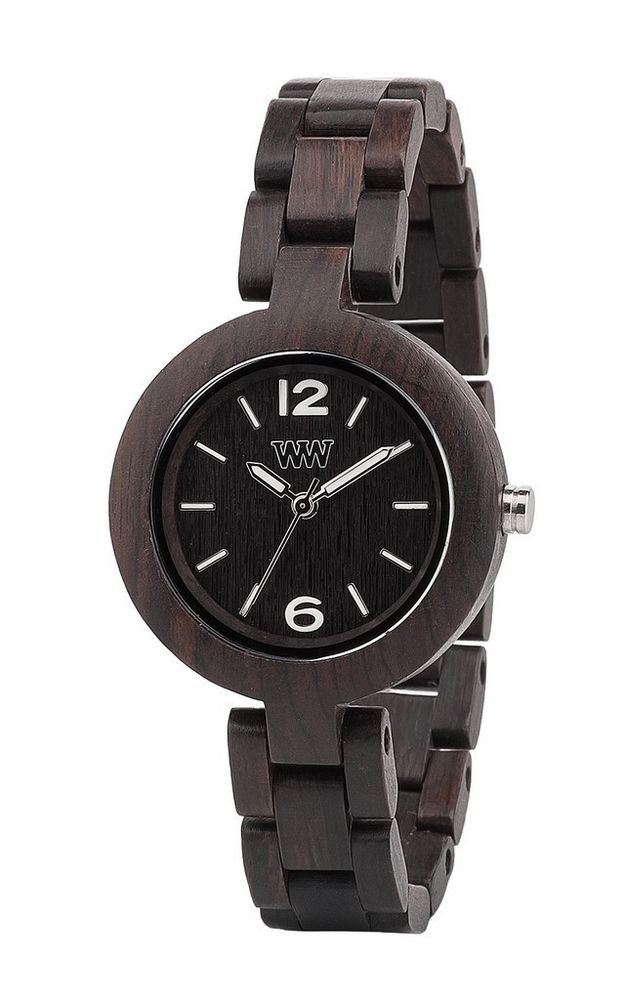 WeWOOD Mimosa Black Women's Watch - Natural Wood Timepiece