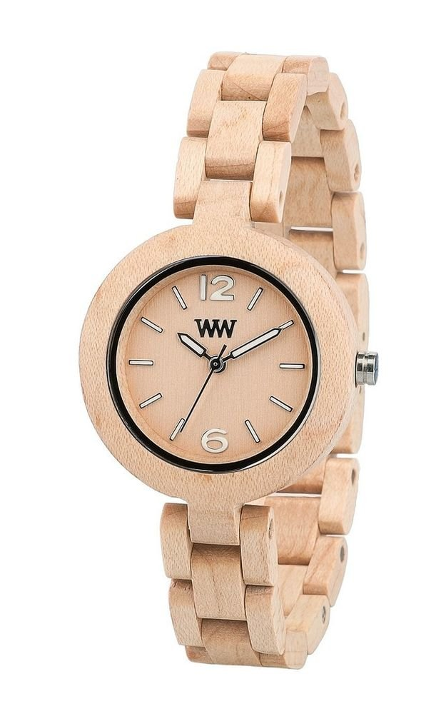 WeWOOD Mimosa Beige Women's Watch - Natural Wood Timepiece