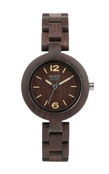 WeWOOD Mimosa Chocolate Women's Watch - Natural Wood Timepiece