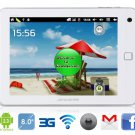 "AMPE 8"" Android 2.3 A10 1.5G 3G Tablet PC with Wi-Fi, FM, Resistive Touch (White)"
