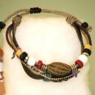 Ethnic Minorities Style Leather Hemp Bangle