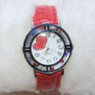 Fashion Crystal beads Women's Leather Watch Quartz Gifts Fashion Luxury