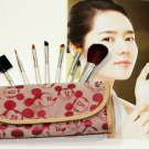 7pc Make Up Brush Set Blush Brush Eyeshadow Eyelash Eyeliner Eyebrow Comb w/Bag