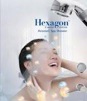 Hexagon Shower water Filter of chlorine