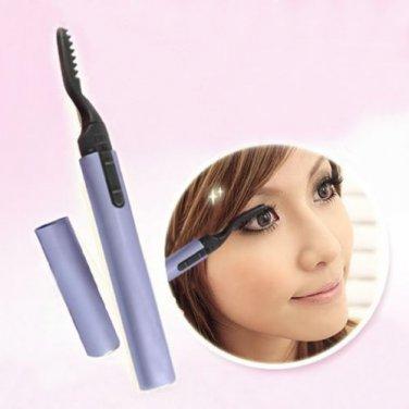 Mini Electric Portable Pen Style Heated Eyelash Eye Lashes Curler Makeup Tool