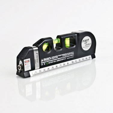 Laser Level Horizon Vertical Measure 8FT Aligner Standard and Metric Ruler XRC