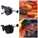 Outdoor Cooking Hand Crank Powered Barbecue BBQ Fan Air Blower