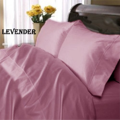 "1200TC Egyptian Cotton Extra Deep Pockets 28"" Levender Sheet Set 4Pc King Size"