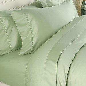 "1200TC Egyptian Cotton Extra Deep Pockets 28"" Sage Set 4Pc Full Size"