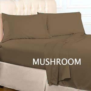 "1200TC Egyptian Cotton Extra Deep Pockets 28"" Mushroom Set 4Pc TwinXL Size"