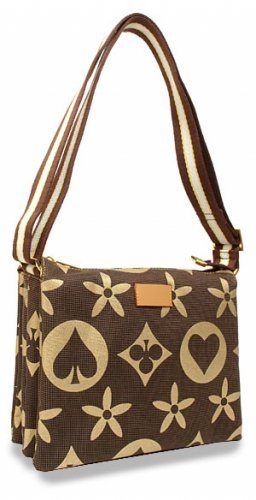 Bold Pattern Messenger Handbag