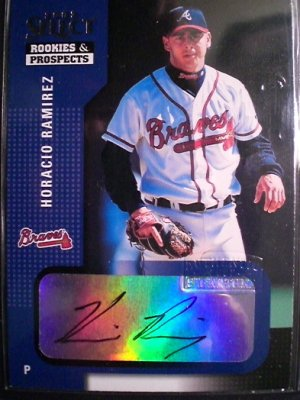 Horacio Ramirez 2002 Select Rookies & Prospects Autograph Card Atlanta Braves