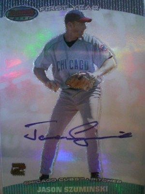 Jason Szuminski 2004 Bowmans Best Autograph First Year Card Chicago Cubs