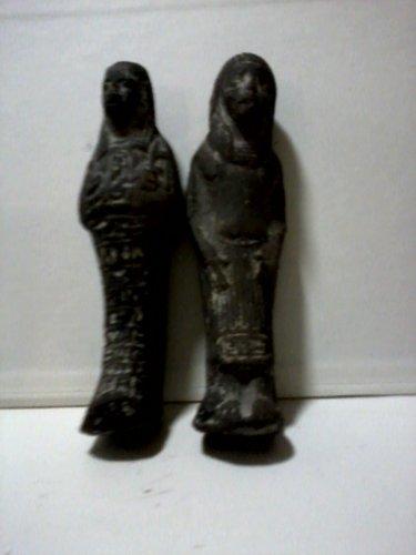 Two Egyptian Ushabti, Shabti  or Shawabti