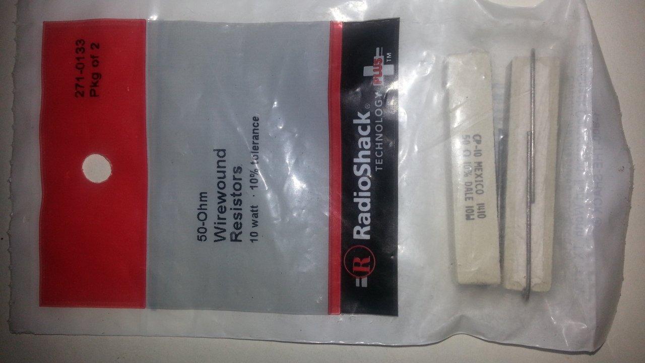50-Ohm Wirewound Resistors