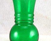 Anchor Hocking Fire King Harding trumpet ribbed Flower Vase