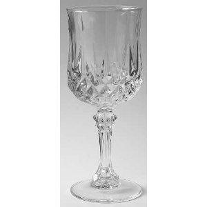 3 Cristal d'Arques Longchamp Water Goblet Stemmed Glass