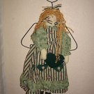 Handmade Country Chic Cloth Door Knob (wall hanging) Angel Doll w/ heart