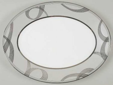"""Waterford China Ballet Encore 15 1/4"""" Oval Platter"""