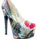 Printed Collage Platform Pump