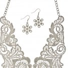 Metal Lace Necklace Set
