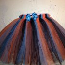 ORANGE TEAL AND BLACK TUTU