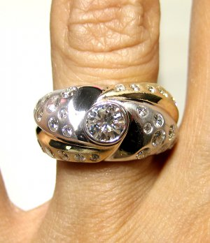 1.60CT ROUND VINTAGE ESTATE DIAMOND SOLITAIRE ENGAGEMENT WEDDING RING RIGHT HAND